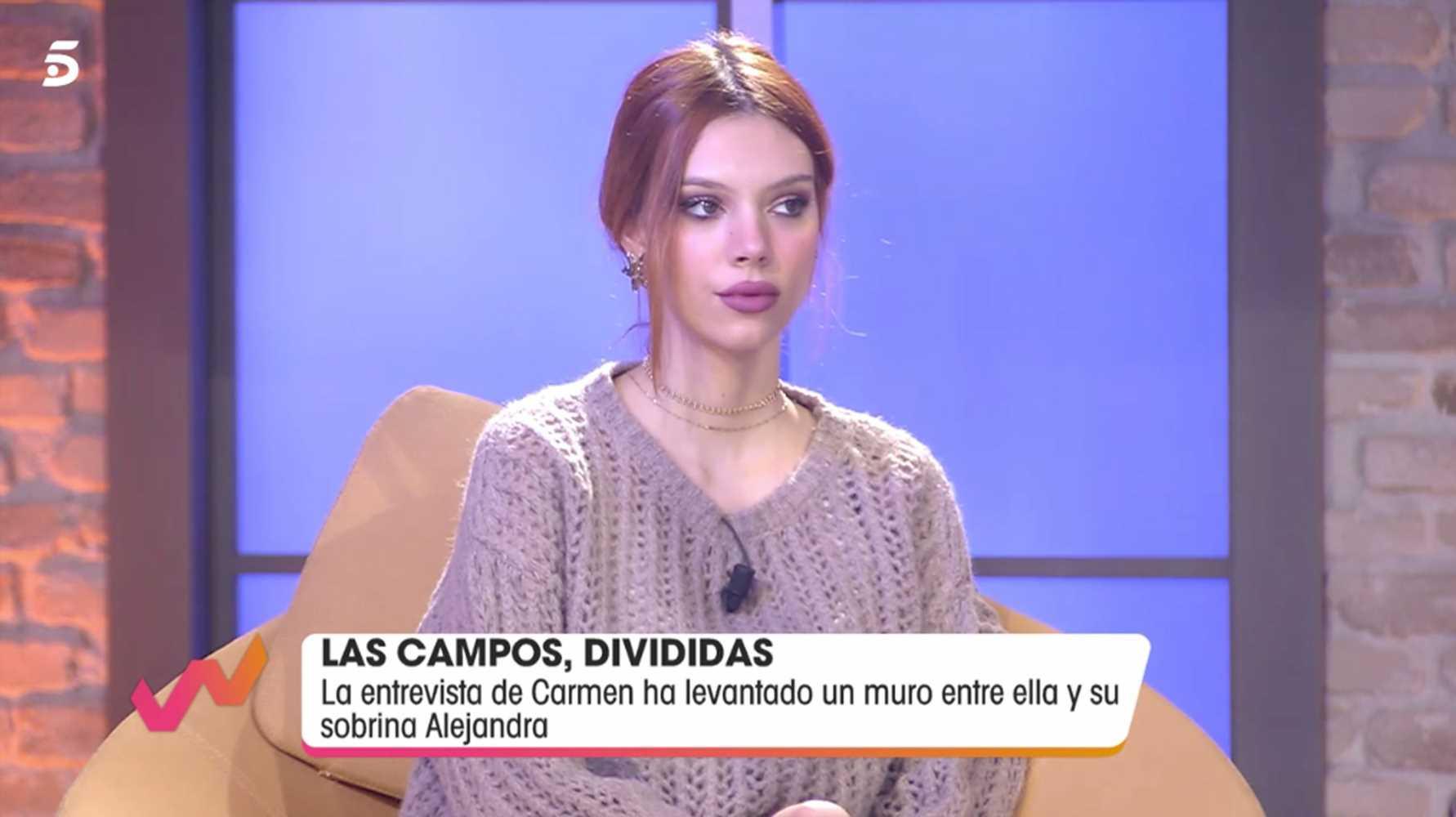 Alejandra Rubio planta cara a su tía Carmen Borrego tras su críticas