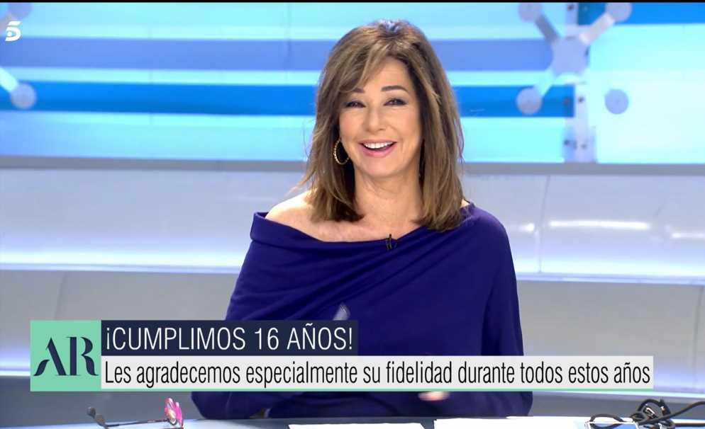 El emotivo mensaje con el que Ana Rosa celebra el aniversario de su programa