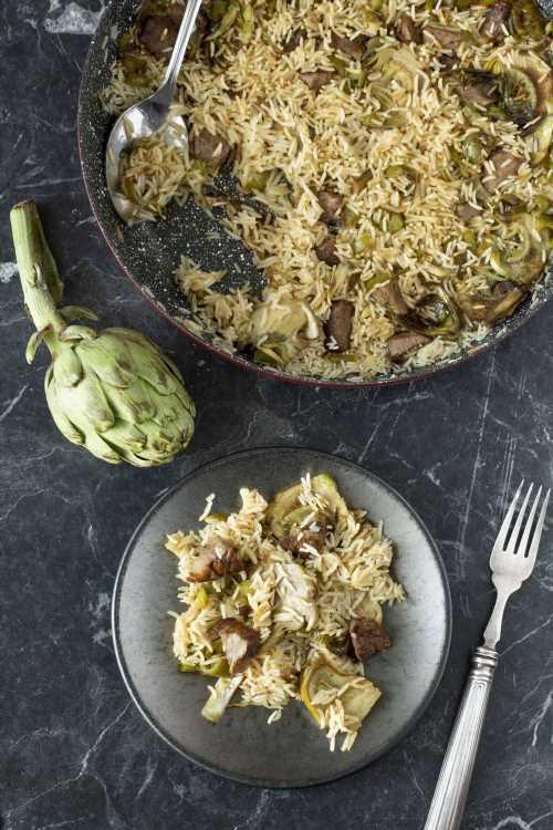 La mejor receta de arroz con alcachofas