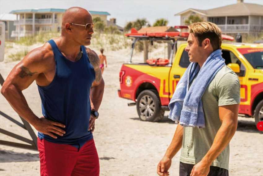 Zac Efron y 'The Rock' son 'Los vigilantes de la playa'