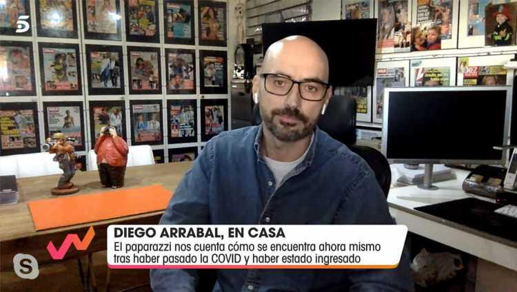 Diego Arrabal reaparece en 'Viva la vida' tras su ingreso hospitalario por Covid 19