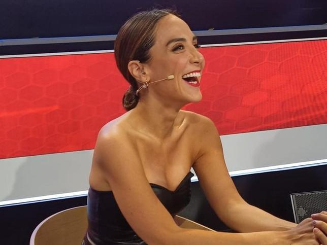 Tamara Falcó se estrena en 'El Desafío' con un look de efecto piel de Zara muy sexy y rebajado con el que ha triunfado
