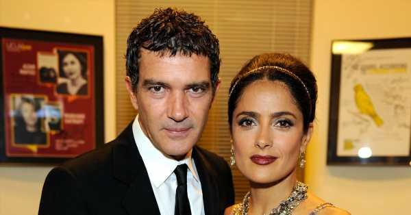 Salma Hayek confiesa que lloró mucho durante su primera escena de sexo con Antonio Banderas