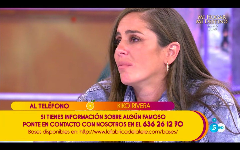 Sálvame: Anabel Pantoja se emociona con la llamada de Kiko Rivera