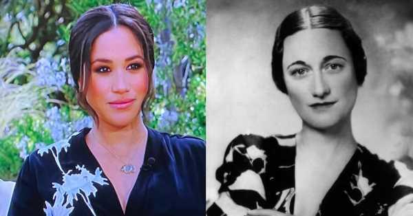 El significado detrás del vestido de Meghan: un Armani con guiño a Diana… ¿y a Wallis Simpson?