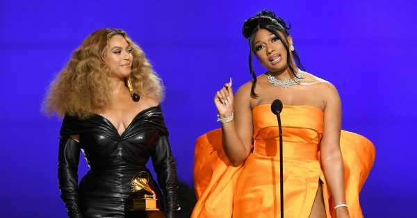 Beyoncé hace historia en unos Grammy que también premiaron a Taylor Swift, Meghan Thee Stallion y Billie Eilish