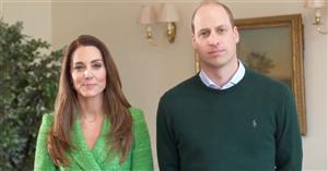 Kate Middleton celebra San Patricio con la chaqueta de Zara en tweed verde que ha volado de las tiendas