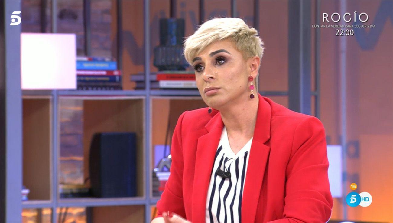 Ana María Aldón, muy afectada horas antes del documental de Rocío Carrasco