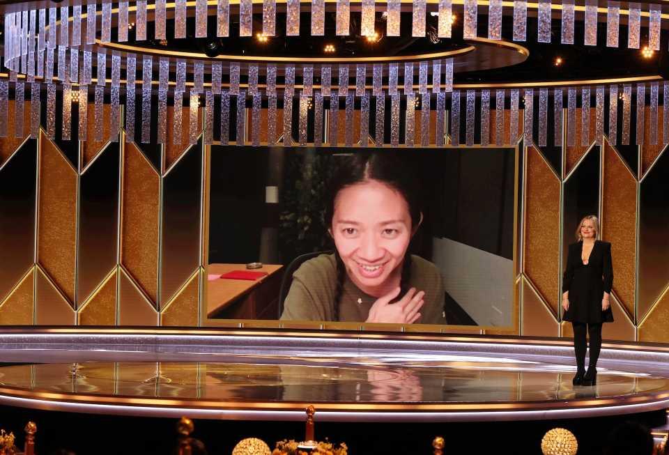 Chloe Zhao, primera directora no blanca en ganar un Globo de Oro