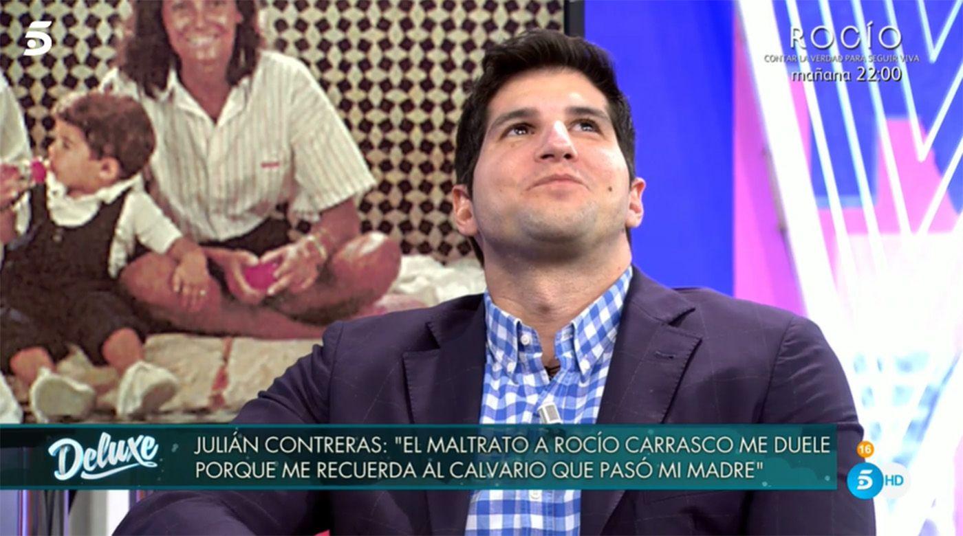 Julián Contreras compara el relato de Rocío Carrasco con el de su madre, Carmina Ordoñez