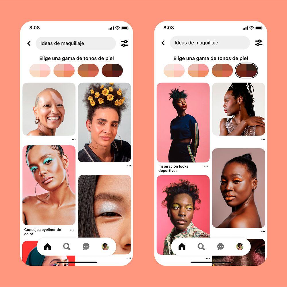 La nueva función de Pinterest apuesta por la belleza inclusiva