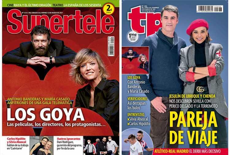 En portada: Llega la gala de los Goya y Chenoa se va de viaje con Jesulín