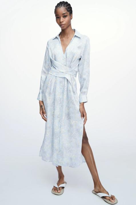 Zara tiene el vestido camisero más bonito, cómodo y que más estiliza, perfecto para una tarde con amigas con sandalias o zapatillas