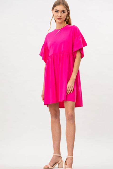 Lefties revoluciona la primavera con este vestido de manga corta, disponible en tres colores, y por menos de 10 euros
