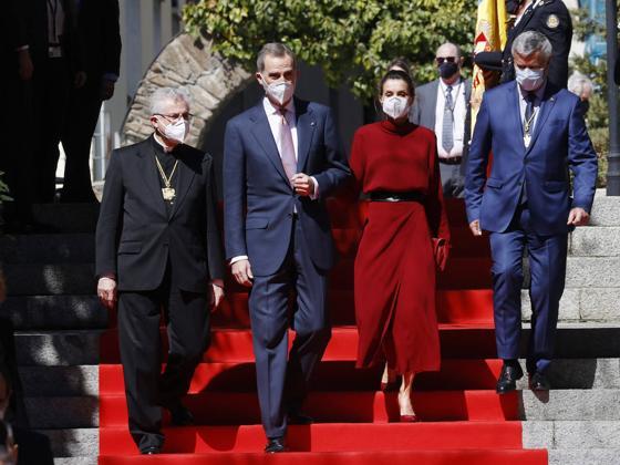 Así ha conseguido Letizia darle un aire totalmente diferente a un vestido made in Spain que comparte con otra royal (Máxima de Holanda)