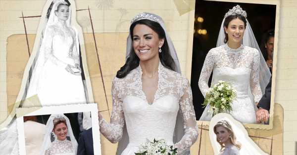 Corpiño, encaje y una tiara discreta: todo lo que Kate Middleton (y otras) copiaron del vestido de novia de Grace Kelly