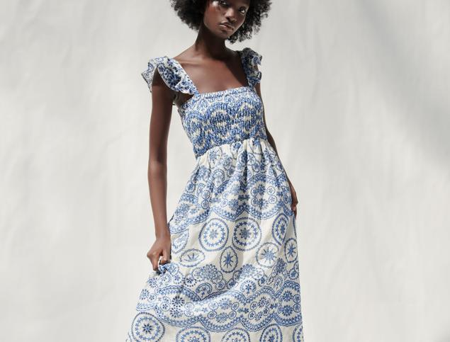 Este es el vestido de Zara (que no para de agotarse) que demuestra que el nido de abeja está más de moda que nunca