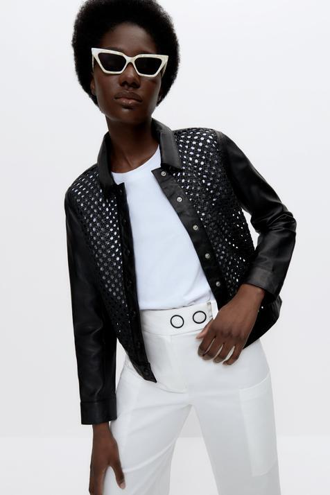 La chaqueta de piel perfecta para el entretiempo existe y está en Uterqüe
