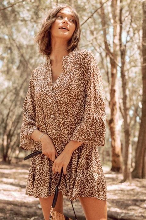Tres diseños diferentes para que el estampado de leopardo también esté presente en tus vestidos de temporada