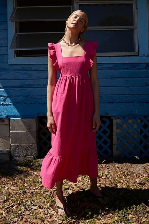 ¡Flechazo! El vestido midi más bonito de la primavera es rosa, baratísimo y está en Primark