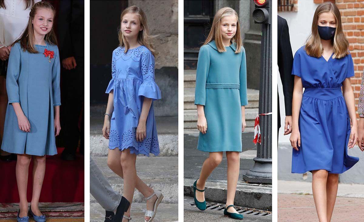 El azul se convierte en el color predilecto de la princesa Leonor