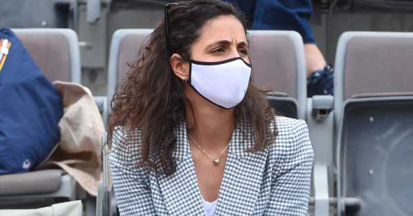 Mery Perelló, el mejor apoyo de Nadal en Roma: blazer de pata de gallo de Zara para un look 'total white'