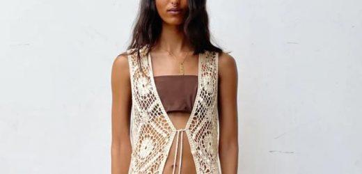 Este chaleco crochet de Zara, que se va a agotar en días, hace que queramos ponernos la ropa de ganchillo que nos hacían nuestras abuelas