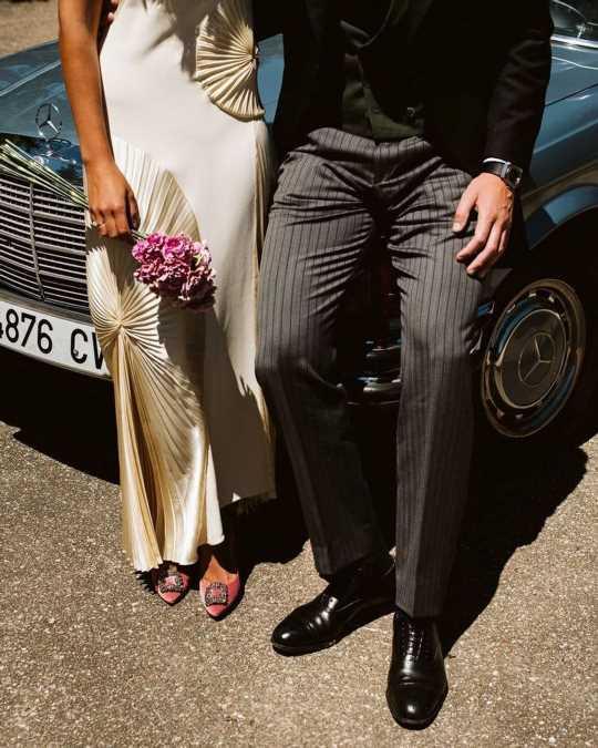 La novia de Valladolid con vestido de Victoria Beckham y Manolos