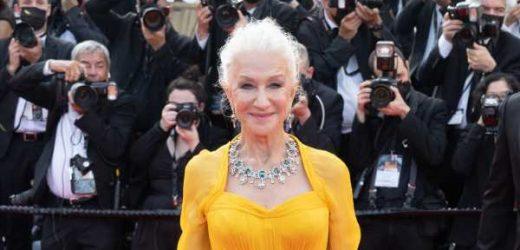 De las sneakers a los tacones: Helen Mirren deslumbra en Cannes