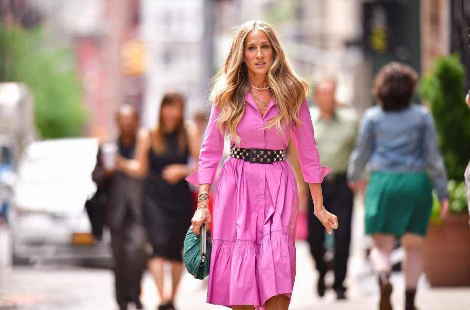 Sarah Jessica Parker y el espectacular vestido rosa de Carrie