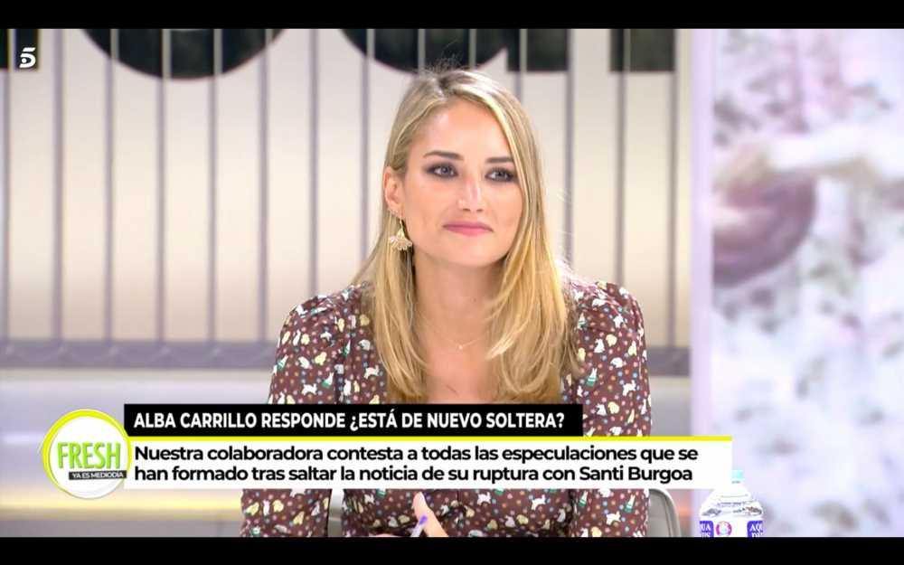 Alba Carrillo da explicaciones de su ruptura con Santi Burgoa