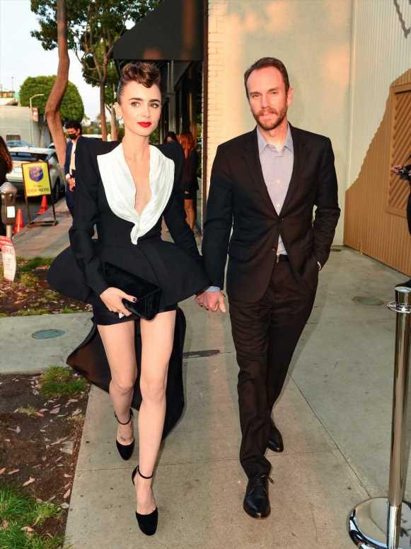 Así es el romántico vestido de novia de Lily Collins