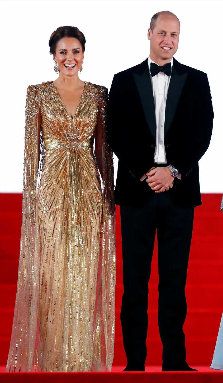 Los duques de Cambridge deslumbran en el estreno de James Bond