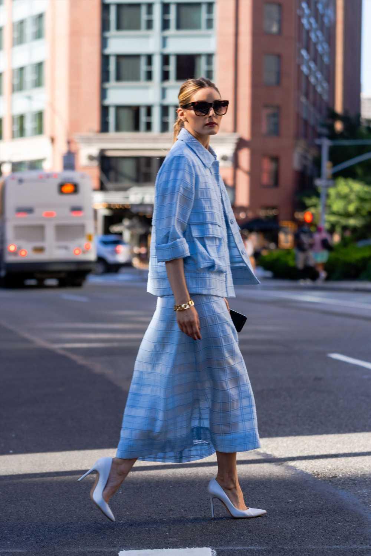 Olivia Palermo y el vestido estampado que podrás llevar en otoño