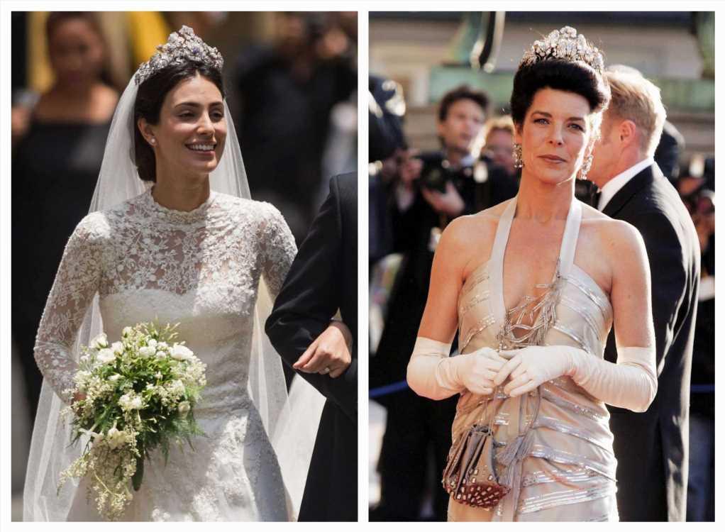 Sassa de Osma, Carolina de Mónaco y la tiara floral que las une