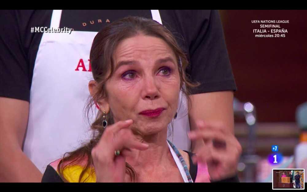 Victoria Abril rompe a llorar por su madre en 'MasterChef Celebrity